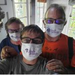 The Fischer Family with their JoshProvides masks